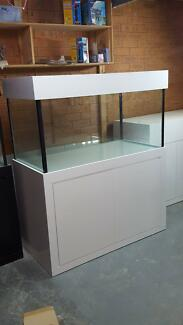 4ft x2ftx 2FT Aquarium-Glass Fish Tank Modern Style Cabinet,Hood Moorebank Liverpool Area Preview