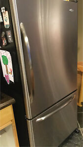 Food can chill out in this Maytag stainless steel fridge freezer