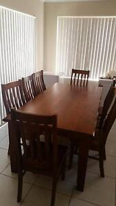 9 piece wood dinning table with chairs for sale Beechboro Swan Area Preview