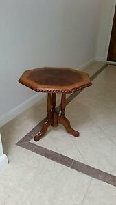 Octagonal carved and incrusted wood coffee table Brighton East Bayside Area Preview
