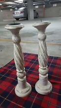 Shabby chic distressed candle holders x 2 Homebush West Strathfield Area Preview
