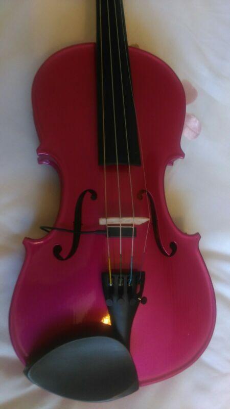Pink Violin Full Size With Ashworth Pickup