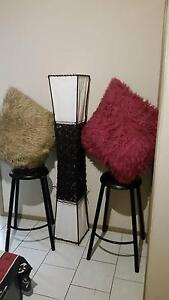 Floor lamp cover plus two large fluffy cushions Eagle Vale Campbelltown Area Preview