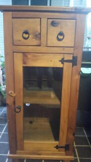 Timber Cabinet with glass door Mount Riverview Blue Mountains Preview