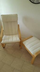 Ikea POANG Chair and Foot Stall Mudgeeraba Gold Coast South Preview