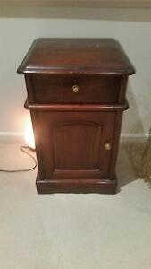Mahogany Bedside Table Macquarie Links Campbelltown Area Preview