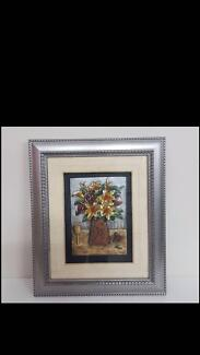 Framed 3-D picture with glass front. 45 x 53 cm. New. Unusual!