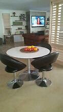 White Gloss Dining Table Round 1.1M Diameter St Georges Basin Shoalhaven Area Preview