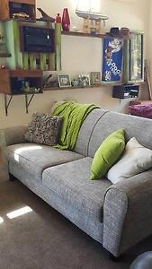 2 seater and 3 seater matching lounges grey tweed Bomaderry Nowra-Bomaderry Preview
