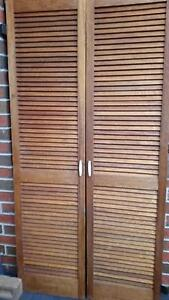2 VINTAGE  WOODEN SHUTTER DOORS/pantry cupboard Taylors Hill Melton Area Preview