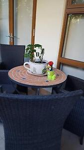 Outdoor Ceramic Table and Wicker Chairs South Perth South Perth Area Preview