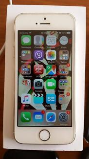 Gold iPhone 5S 16GB with Otterbox + 2 others, earbuds + 2 cables Gosnells Gosnells Area Preview