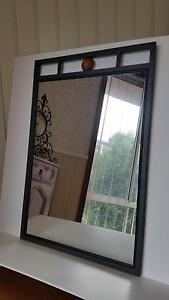 BRAND NEW UNUSED large charcoal coloured metal wall mirror Gorokan Wyong Area Preview