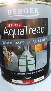 BERGER - Jet Dry AQUATREAD Water based CLEAR SEALER Belrose Warringah Area Preview