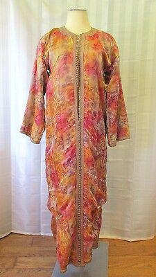 Rare Vintage Moroccan Caftan 1920s 1930s 1940s Antique Robe M Medium Kaftan Dres