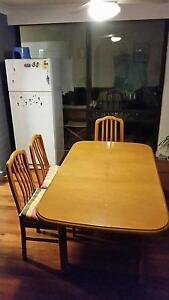 wood dining table and six chairs New Farm Brisbane North East Preview