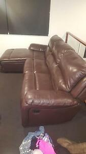 Nick Scali 100% leather recliner lounge Casuarina Tweed Heads Area Preview