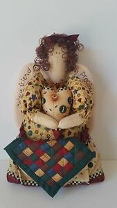 NEW Well made country style fabric standing angel doll w/ quilt Gorokan Wyong Area Preview