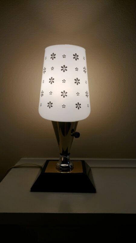 "Vintage Leviton Mid Century Atomic Lamp TV/Table Retro Modern 10.5"""