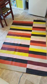 Free colourful floor rug