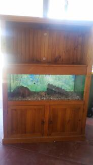 Timber cupboard & fish tank Oakey Toowoomba Surrounds Preview