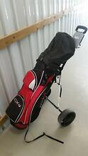 Mens Right Hand CX4 Golf Clubs with bag and buggy Clinton Gladstone City Preview