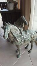 Vintage Silver over Bronze Chinese Horse Pair Southside Gympie Area Preview