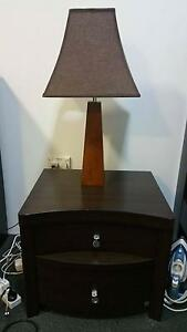 Queen bed frame, dresser, 2x bedside tables and 2x lamp set Holsworthy Campbelltown Area Preview