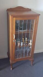 Antique style timber and glass display cabinet Burwood Burwood Area Preview