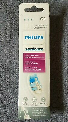 Philips Sonicare Optimal Gum Care Brush Head [3-Pack] HX9033/65 *Genuine*