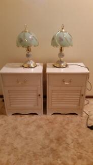 2 x bedside tables and 2 x lamps Macquarie Fields Campbelltown Area Preview