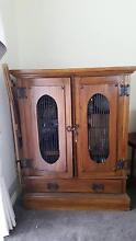 STRONG SOLID WOODEN DISPLAY CABINET Donvale Manningham Area Preview