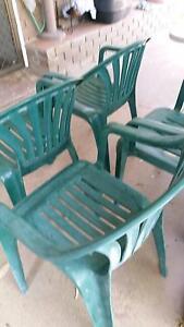 Green plastic chairs Bracken Ridge Brisbane North East Preview