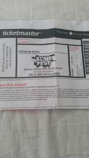 Nickelodean's SLIMEFEST Tickets x 2 Premium Mosh Area South Penrith Penrith Area Preview