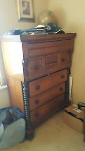 White cedar chest of drawers Hamilton South Newcastle Area Preview