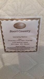Boori cot mattress 131cm long 75cm wide 11cm high Gladstone Park Hume Area Preview