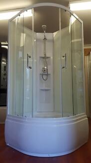 NEW SHOWER SCREEN ENCLOSURE BATHROOM TUB CUBICLE - 6158 (90)