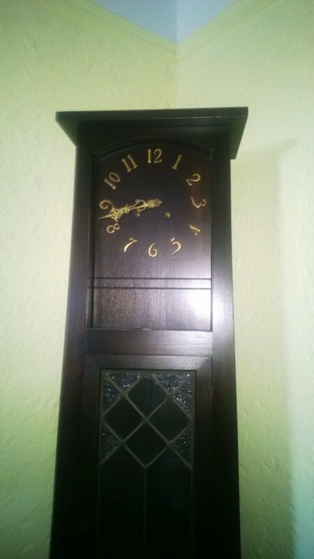 Vintage Arts and Crafts Mission Style  Standing  Clock