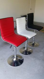 Black, White & Red barstools great condition Helensvale Gold Coast North Preview