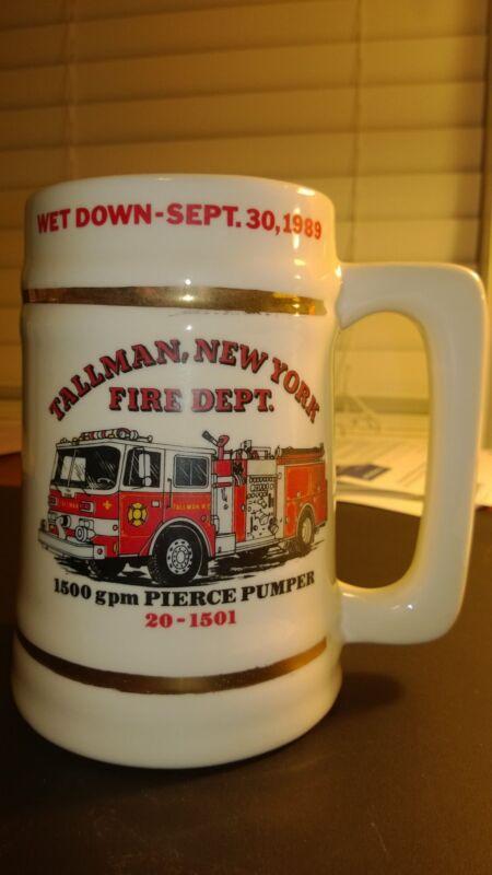 Vintage  Fire Engine Department mug 1989 TALLMAN,,New York