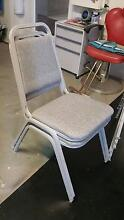 Heavy Metal Padded & Stackable Chairs (8) Hampton East Bayside Area Preview