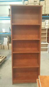 TALL STAINED LOOK OFFICE BOOKCASE Murarrie Brisbane South East Preview
