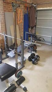 Gym Set, weights, 2 x Benches, 3 x Bars, multiple Dumbell handles Raworth Maitland Area Preview