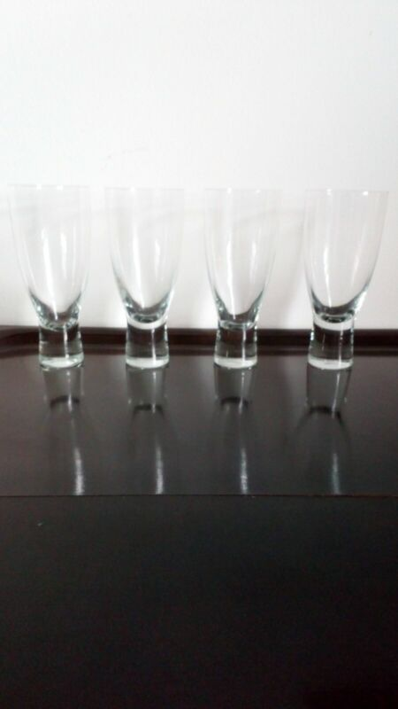 Holmegaard clear Canada glasses (four) Per Lutken