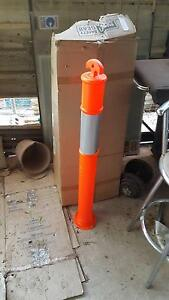 Orange Plastic Safety Bollard Strathpine Pine Rivers Area Preview