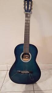 Riviera Blue Guitar with cover Penrith Penrith Area Preview
