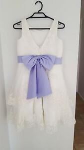 Flower girl dresses x 2 – never used – ivory and lavender Golden Grove Tea Tree Gully Area Preview