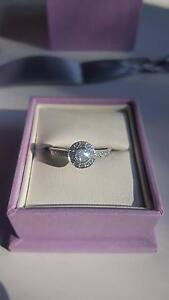 Michael Hill Halo Engagement Ring - 1/2 Carat, 18CT White Gold Leichhardt Leichhardt Area Preview