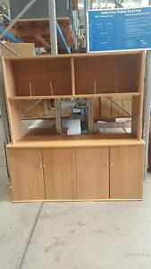 FOUR DOOR CABINET WITH STORAGE HUTCH - office work furniture Murarrie Brisbane South East Preview
