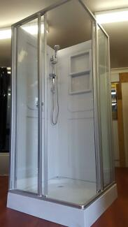 NEW SQUARE SHOWER SCREEN ENCLOSURE CUBICLE BASE & WALLS - 6150s